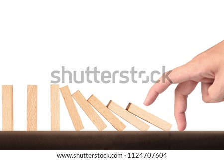 stop a dominoes continuous toppled #1124707604