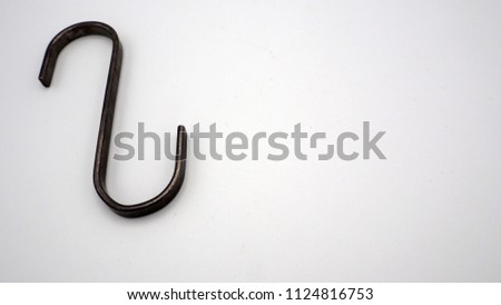 Hanging or hook in s shape design household tool on white background. #1124816753