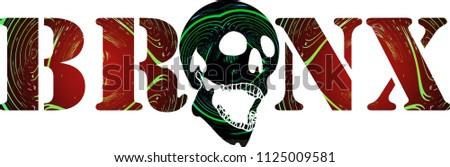 Bronx graphic design illustration #1125009581