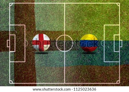 Football Cup competition between the national England national Colombia. #1125023636