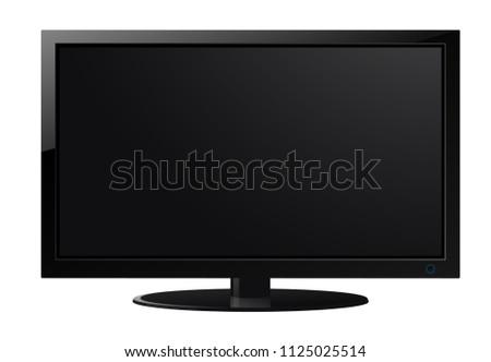 Modern Television set illustration #1125025514