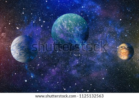 space many light years far from the Earth. Elements of this image furnished by NASA #1125132563