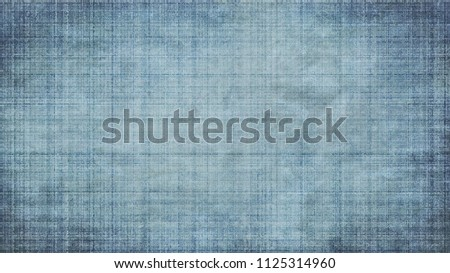 Old canvas with large texture. Grunge jeans with lines.
