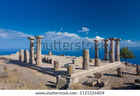 Ruins of the Temple of Athena in Assos, Canakkale, Turkey #1125326804