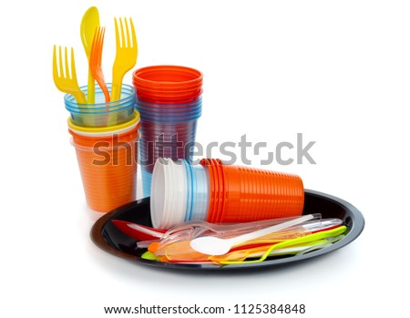 Single-use plastics, EU European directive to help environment. #1125384848