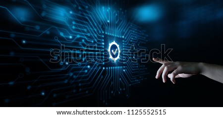 Standard Quality Control Certification Assurance Guarantee Internet Business Technology Concept. Royalty-Free Stock Photo #1125552515