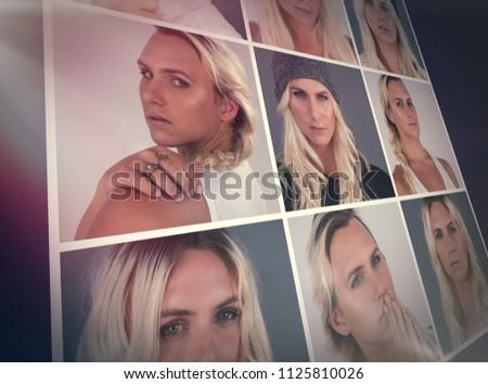 People collage portrait 3x3 #1125810026