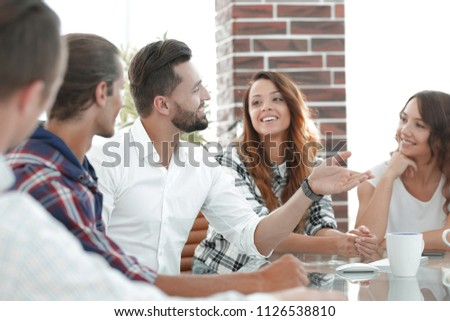 close-up of the creative team discussing #1126538810