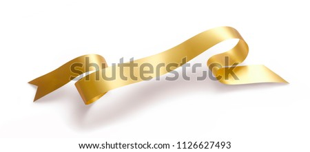 GOLD RIBBON ISOLATED #1126627493