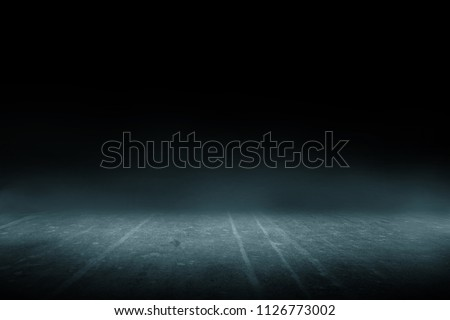 Texture dark concrete floor with mist or fog #1126773002