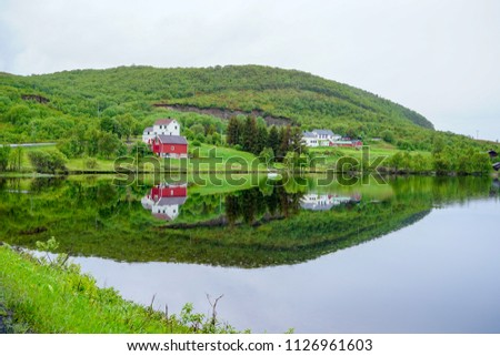 Beautiful countryside in Lofoten, Norway #1126961603