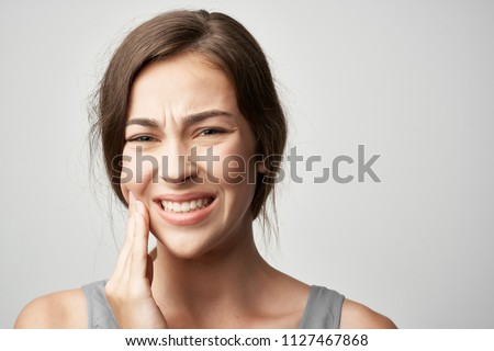 woman teeth hurt tooth decay                              Royalty-Free Stock Photo #1127467868