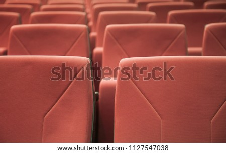 red theatre chairs #1127547038
