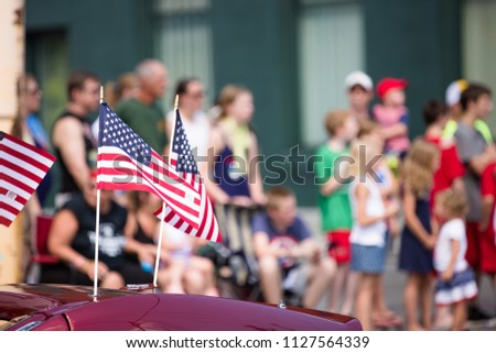 American Flag, Fourth of July Parade #1127564339