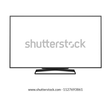 Television Screen Isolated. 3D rendering #1127693861