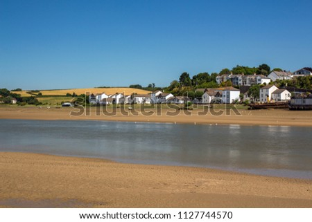 Bideford , East the Water , Devon , England Royalty-Free Stock Photo #1127744570