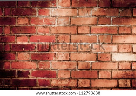 Old red brick wall backgrounds #112793638