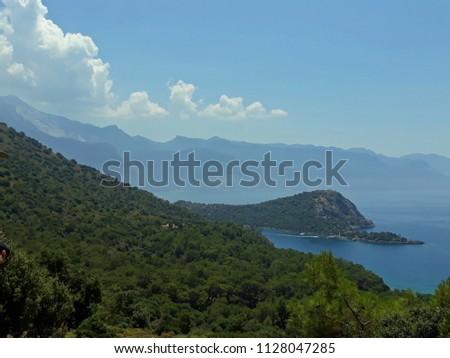 The Landscape on the Lycian Way that the longest trekking route in Turkey. #1128047285