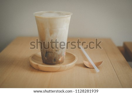 Ice coffee jelly with straw #1128281939