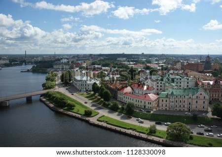 Vyborg from height #1128330098