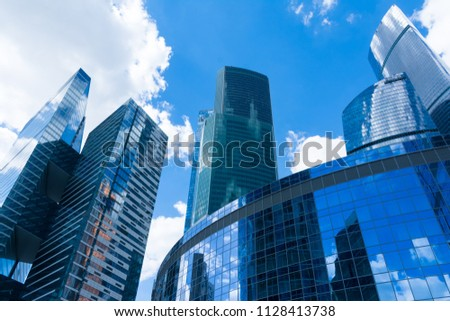 skyscrapers of Moscow city #1128413738