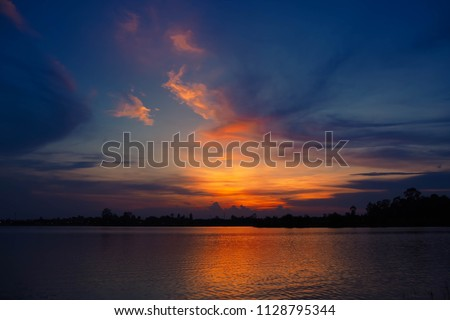 Twilight sky  background Royalty-Free Stock Photo #1128795344