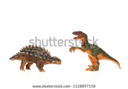 Children's toys on white background isolated #1128897158