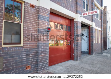 Fire Station with brick wall building
