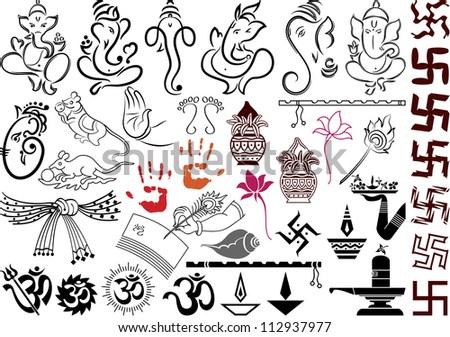 Ganesha with wedding symbols