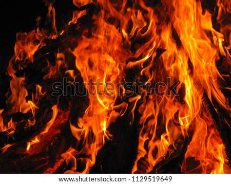 background, fire background, oxidizing flame, oil burns blurred #1129519649