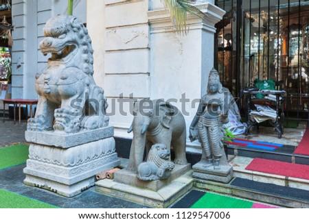 Colombo, Sri Lanka – April 06, 2017: Temple Gangaramaya. #1129547006