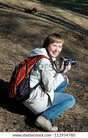 Young female photographer #112954780