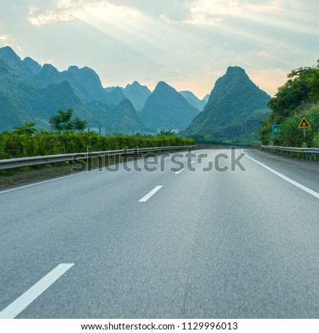Sunset Guilin Highway #1129996013
