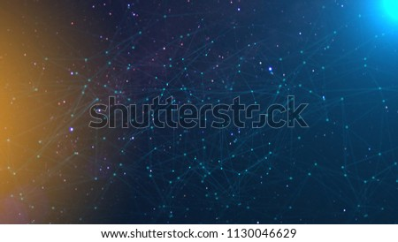 Network with nodes connected background. Technology concept  Royalty-Free Stock Photo #1130046629
