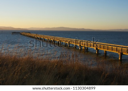 Pier at Point Pinole Royalty-Free Stock Photo #1130304899