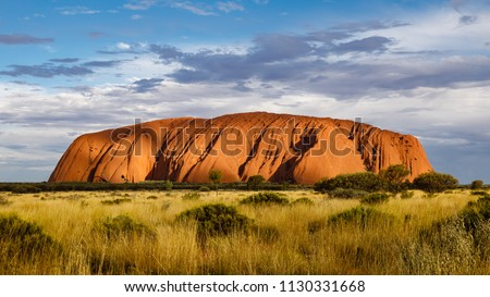 A red sandstone rock in Australia Royalty-Free Stock Photo #1130331668