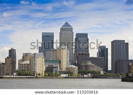 London Financial Hub Royalty-Free Stock Photo #113103616