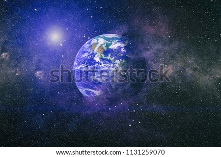 Planet Earth. Eastern hemisphere. This image elements furnished by NASA. #1131259070