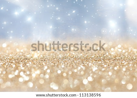 abstract  twinkled  christmas background with stars #113138596