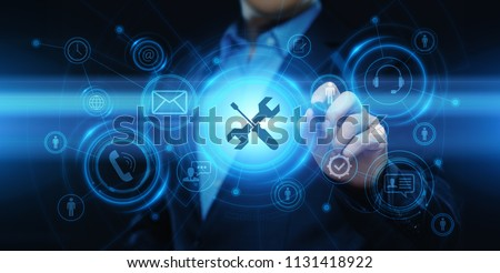 Technical Support Customer Service Business Technology Internet Concept. Royalty-Free Stock Photo #1131418922