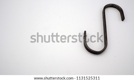 Hanging or hook in s shape design household tool on white background. #1131525311