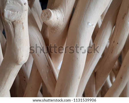 Texture and background of white driftwood sticks. #1131539906
