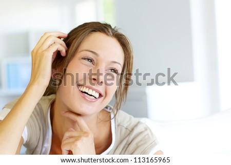 Portrait of beautiful smiling woman #113165965