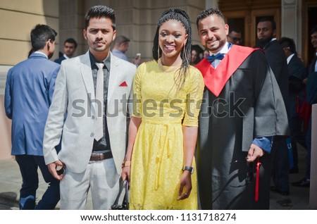 Odessa, Ukraine-July 3, 2018: Graduates of the Medical Institute  #1131718274