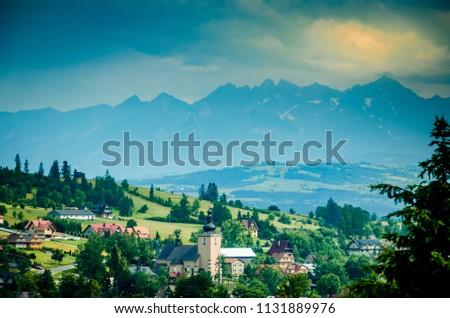 A village in the Zakopane region of Southern Poland #1131889976