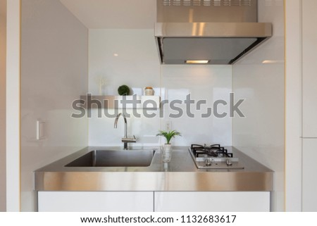 bright clean kitchen #1132683617