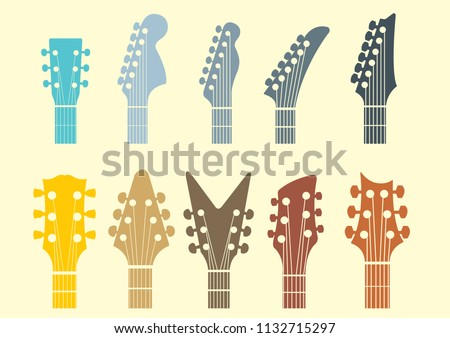 vector icon Guitar headstocks