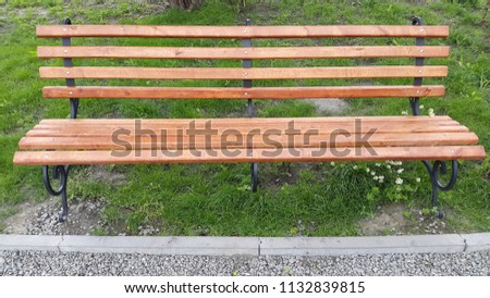 photo of a park bench #1132839815