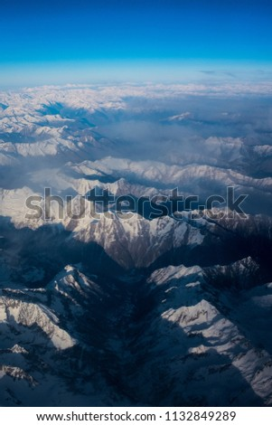 Aerial view of Alp Mountains #1132849289