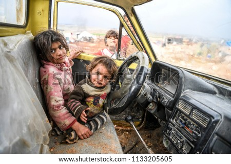 life in Idlib and refugee.14 MARCH 2018 Idlib at Syria  #1133205605